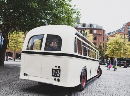 Vintage wedding bus hire in Alvechurch